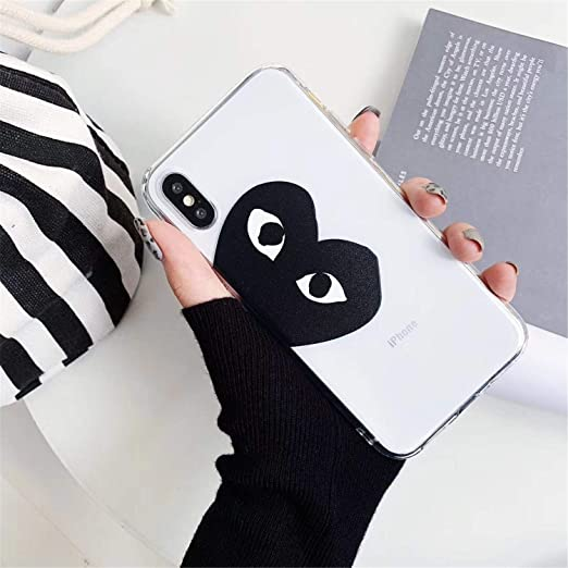 d29280cdaf0 Amazon.com  Commes Des Garcons CDG Play Japan Case for iPhone Transparent  Soft 1 for iPhone Xs  Cell Phones   Accessories