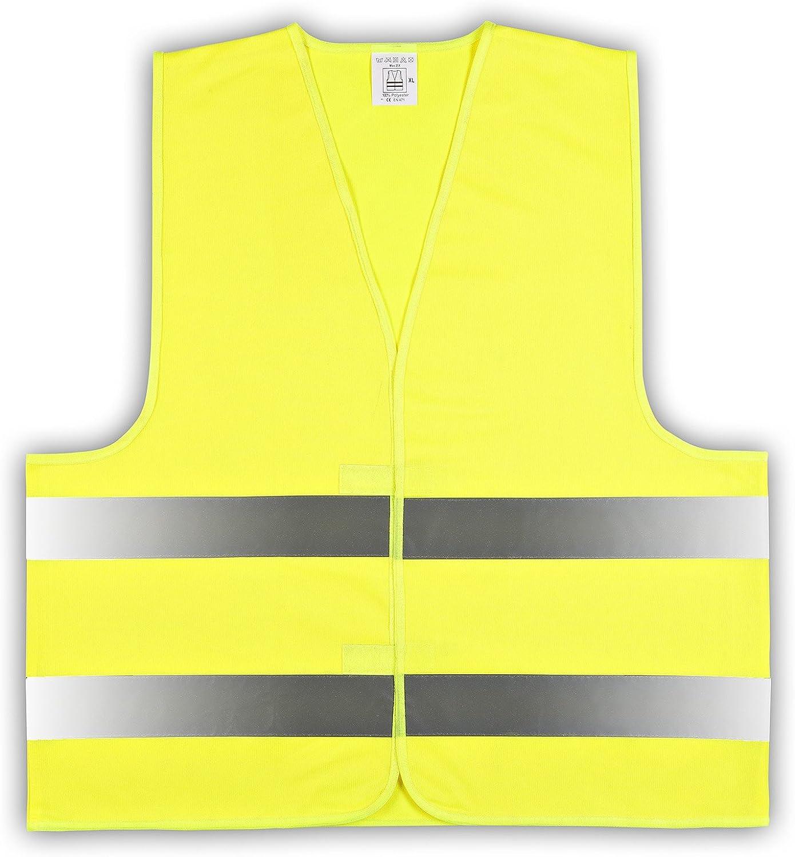 Easymesh 10er Pack Kinder Signalweste Warnweste Gelb Größe Xs Ca 3 6 Jahre E Bekleidung