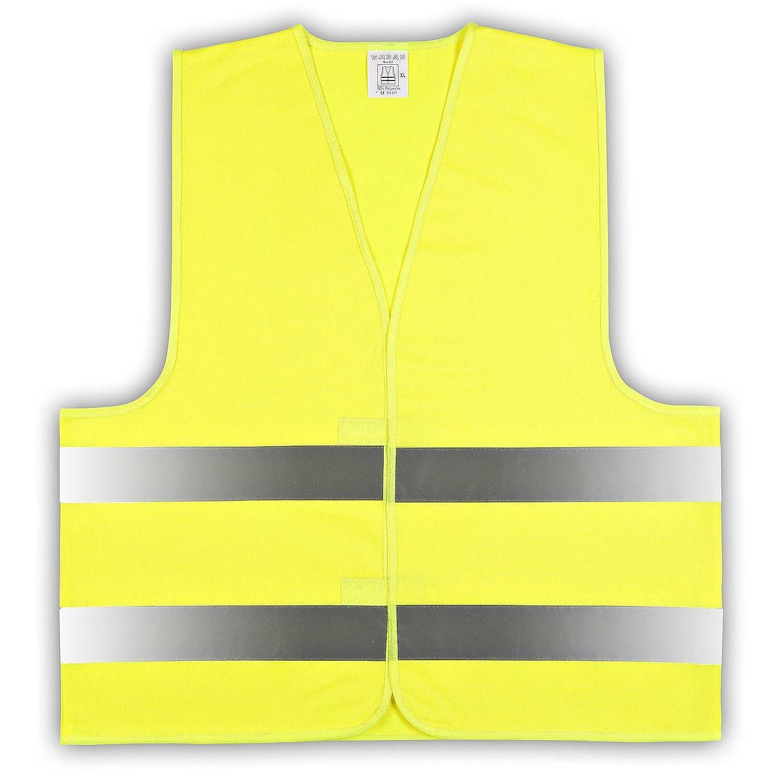 easyMesh/® Kinder Signalweste Warnweste Gelb Gr/ö/ße XS 10er Pack ca.3-6 Jahre e