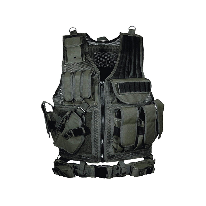 UTG 547 Law Enforcement Tactical Vest, Left Handed, Black LEAPERS INC. PVC-V547BL