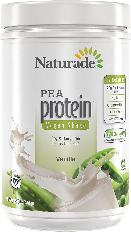 Naturade Plant Based Vegan Pea Protein – Vanilla – 15.66 oz: Health & Personal Care