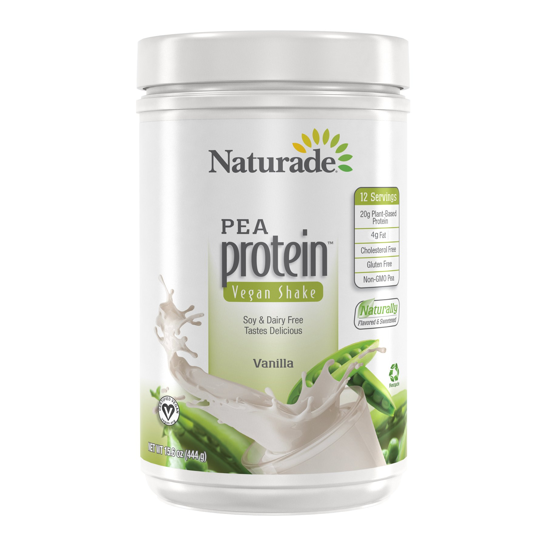 Naturade Plant Based Vegan Pea Protein - Vanilla - 15.66 oz by Naturade