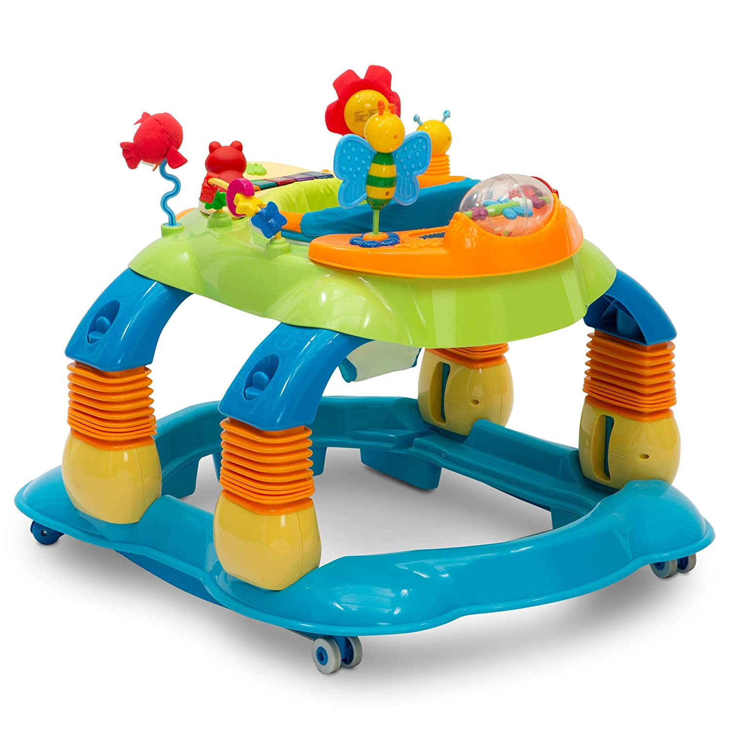 Delta Children 4-in-1 All-in-one Baby Walker discover and play musical walker for 6-month old baby