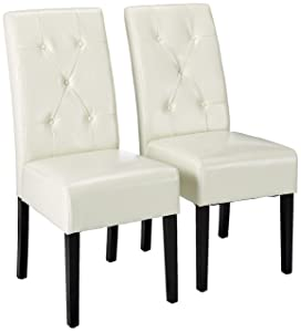 Christopher Knight Home 214521 Alexander Ivory Bonded Leather Dining Chair