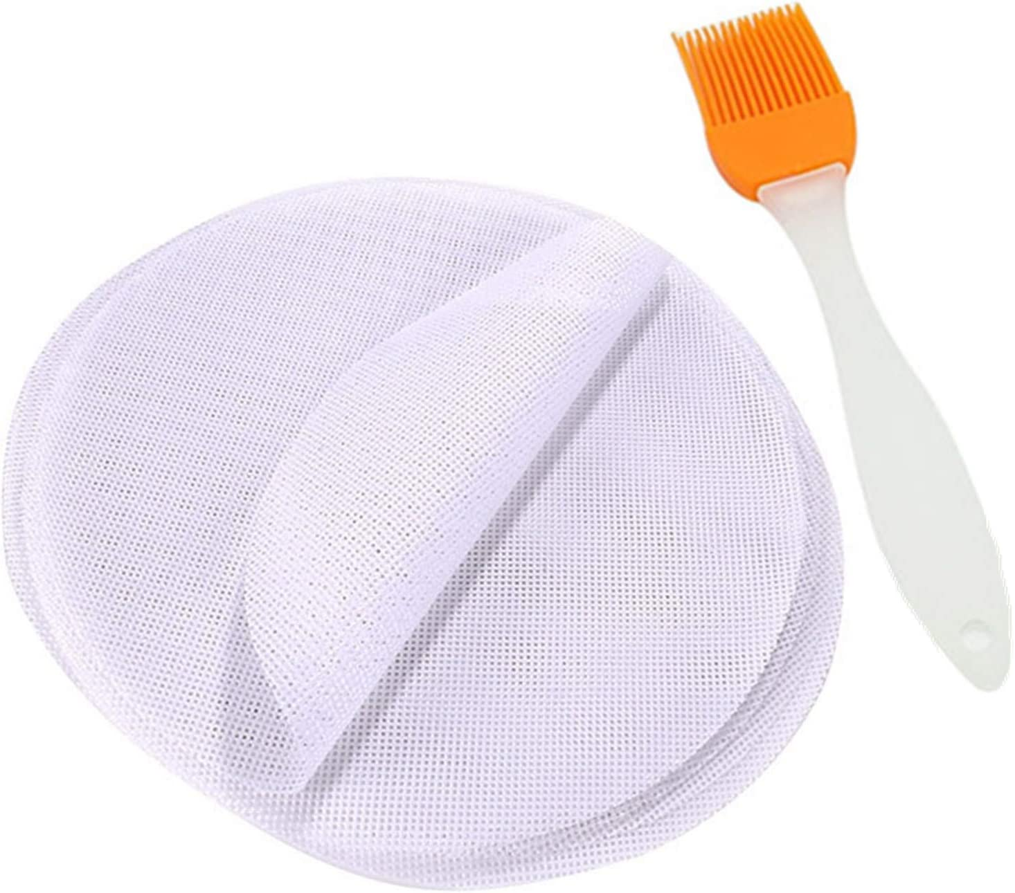 GUCUJI 4 piezas 8 pulgadas silicona antiadherente Steamer Liners Malla Mat Pad Steamed Buns Dumplings Hornear Pasteler/ía Dim Sum Malla