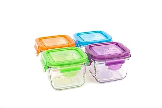 2 opinioni per Wean Green, Set di contenitori per alimenti, in vetro, 4 pz., Multicolore