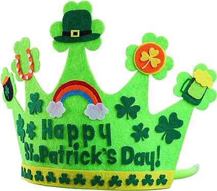 3rd Birthday Hat Boy 3rd Birthday Hat St Pattys Day Birthday Boy Hat St Patricks Birthday Crown Boy Gold Green Rainbow Shamrock