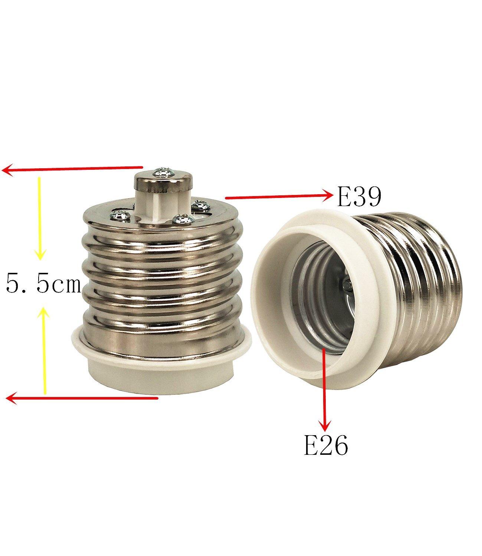 LED Lamp Socket Adapter yunqi 6 pcs E39 to E26 Lamp Bulb Base Socket Lamp Holder Converter Adapter for Lamp Converter