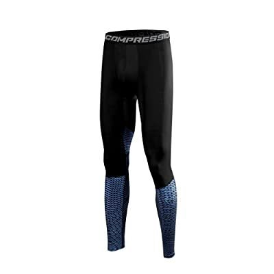 1Bests Men's Basketball Sports Training Tight Pants Elastic Compression Quick Dry Leggings