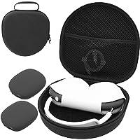 ProCase Hårt hörlursfodral för AirPods Max med 2 smarta silikonfodral, hardshell Eva bärväska headset fodral – svart