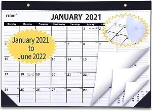 2021 Desk Calendar - 18 Months Desk Calendar with to-do List,Julian Date. January 2021 - June 2022 17