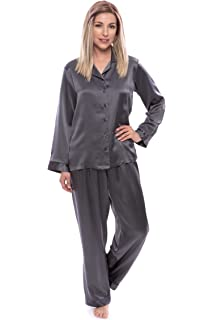 TexereSilk Women s 100% Silk Pajama Set - Luxury Sleepwear Pjs (Morning ... dc86421e6