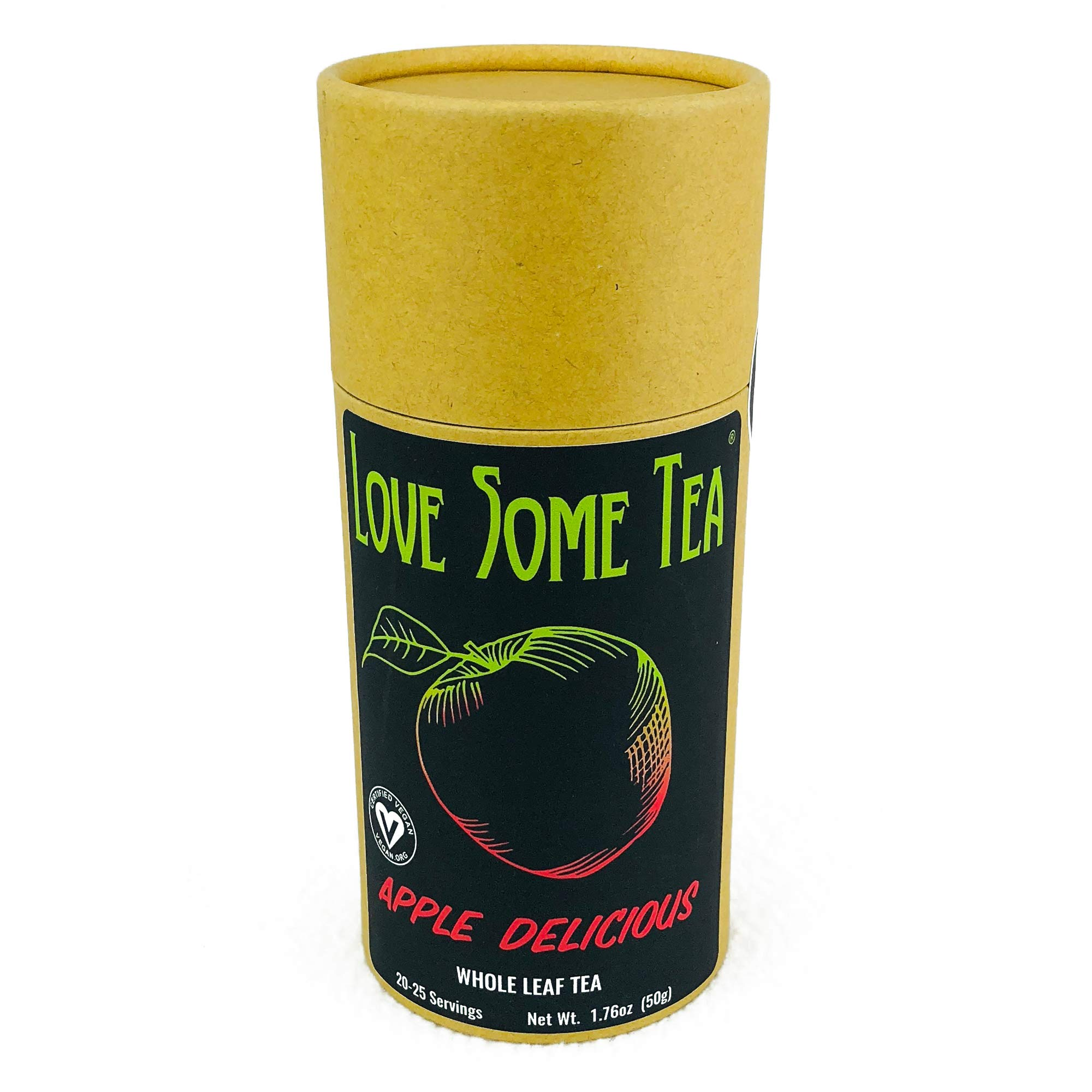 Apple Delicious Whole Leaf Tea   Love Some Tea   50 g.   Rare wild tea harvested in the remote mountains of Thailand