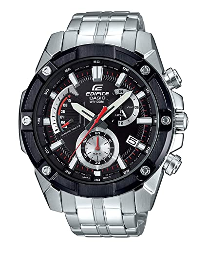 Casio Reloj Analogico para Hombre de Cuarzo con Correa en Acero Inoxidable sólido EFR-559DB-1AVUEF: Amazon.es: Relojes