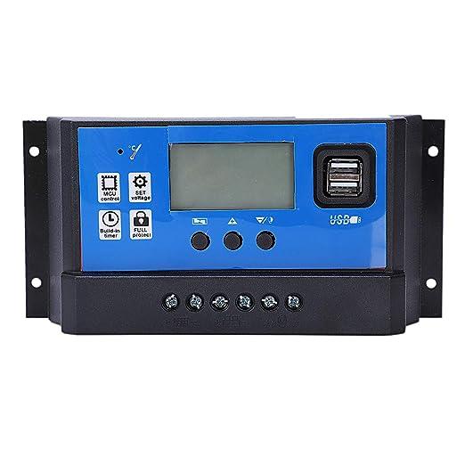 XZANTE Cargador Solar Y Controlador De Descarga 12V 24V ...