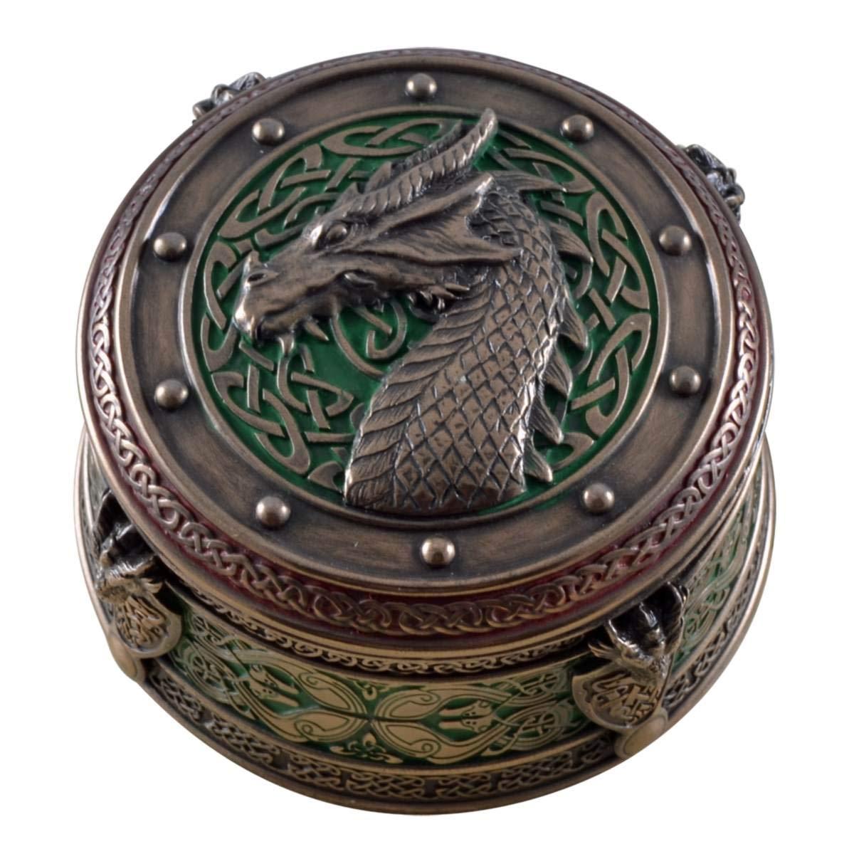 Caja con dragón circular