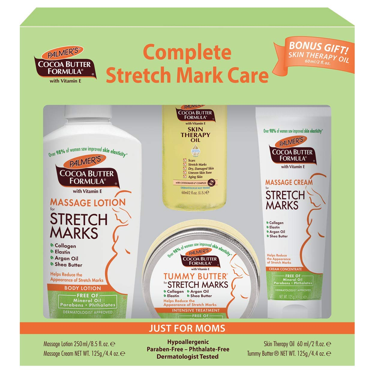 Complete Stretch Mark Care Kit for Expectant Moms from Palmer's Cocoa  Butter Formula | for Stretch