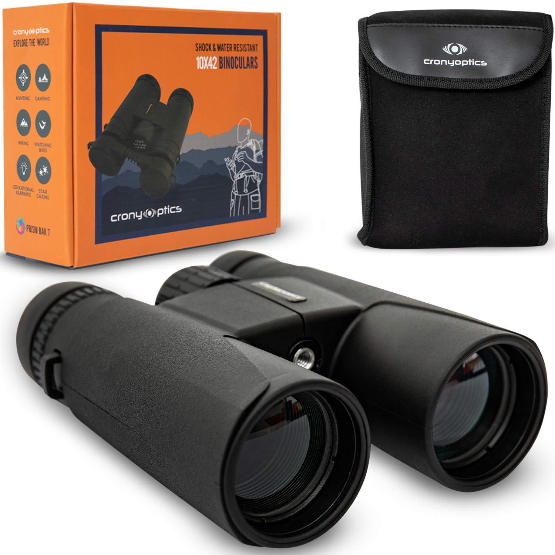 Professional Binoculars for Bird Watching - Premium Bird Watching Binoculars for Adults - Lightweight Binocular kit for Birding - 10x42 Long Range and High Powered Binoculars by Cronyoptics