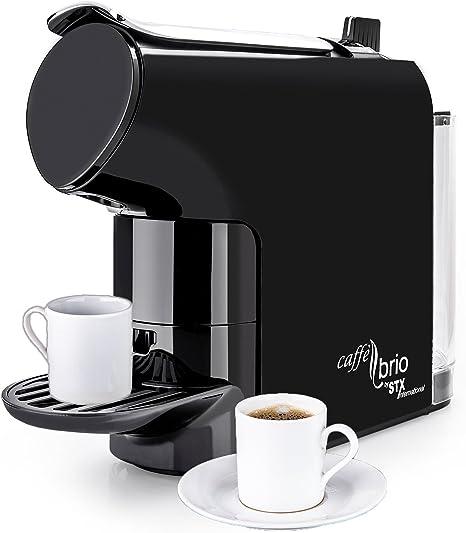 Caffé Brio, Nespresso OriginalLine Capsule Compatible Espresso Coffee Maker Machine, STX International Model STX-6000-CB - VTC Dispensing, Auto-Eject ...