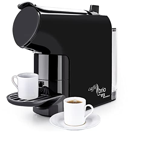 Caffé Brio, Nespresso OriginalLine Capsule Compatible Espresso Coffee Maker Machine, STX International Model STX-6000-CB - VTC Dispensing, Auto-Eject ...