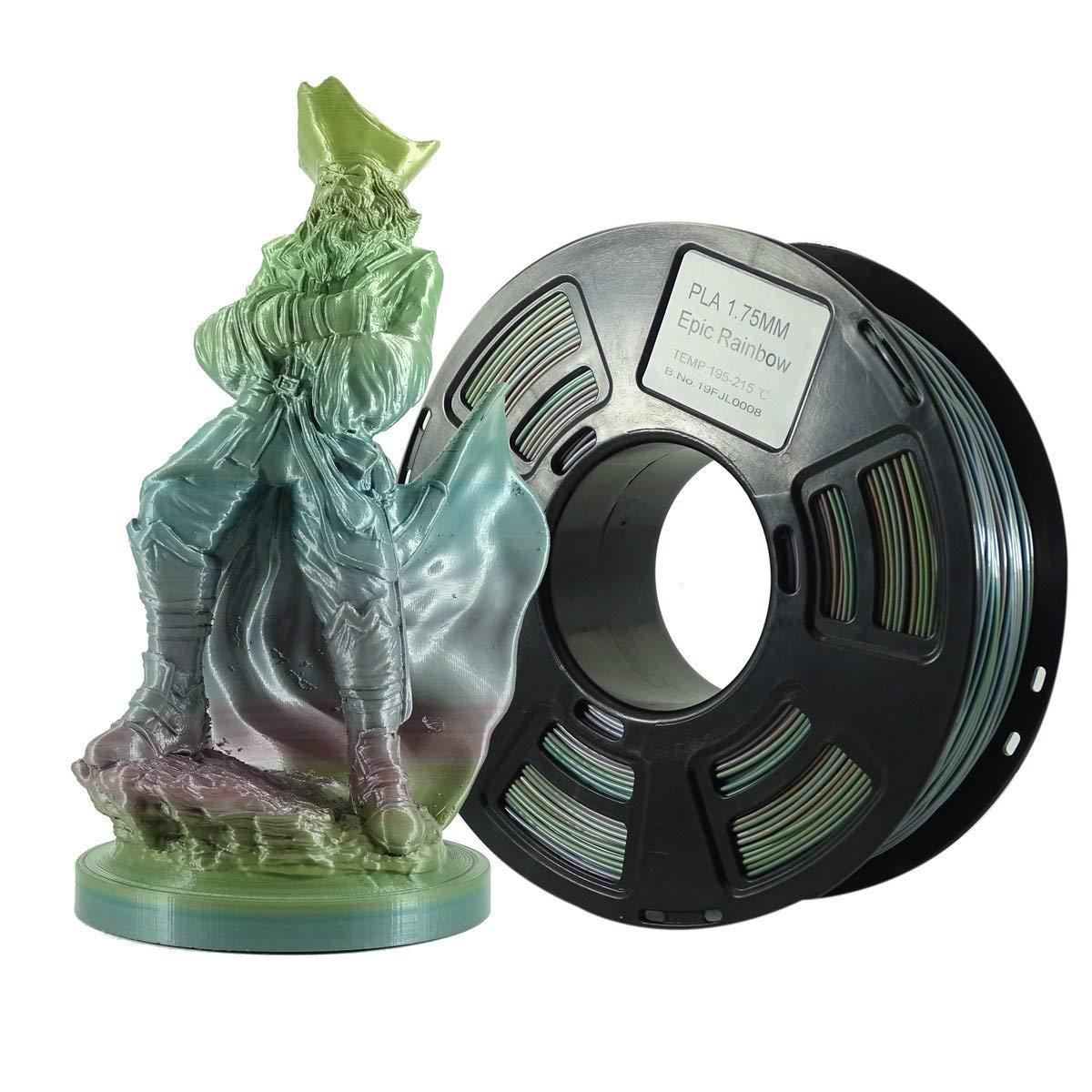 Stronghero3D - Filamento PLA impreso 3D de 1,75 mm, multicolor, 1 ...