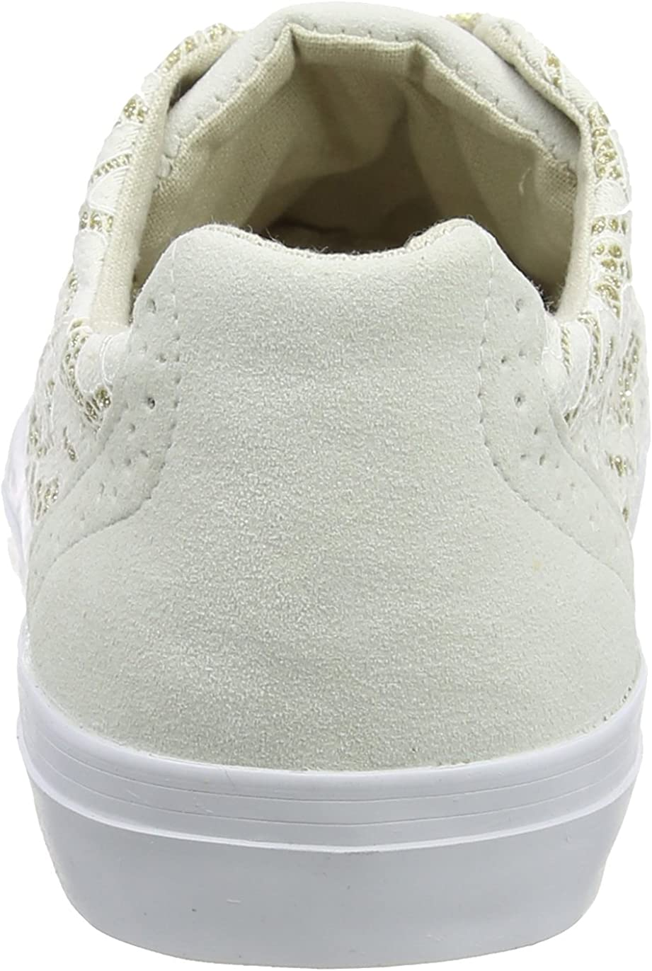 Extra Wide Glitter Lace Trainers