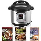 Instant Pot IP-DUO60 7-in-1 Programmable 6-Quart/1,000-Watt Pressure Cooker and Book Collection Bundle