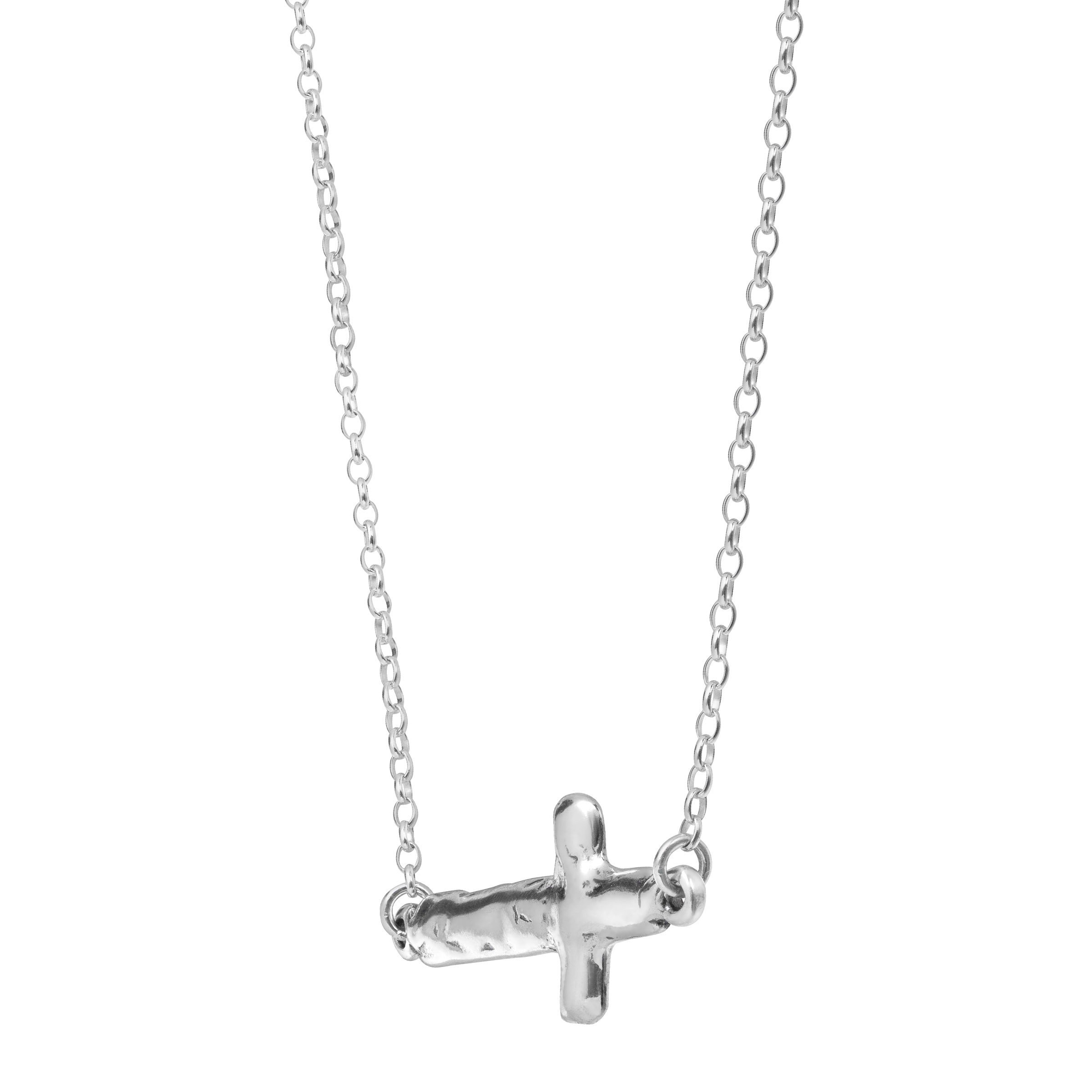 Silpada 'Cross My Art' Horizontal Cross Necklace in Sterling Silver by Silpada (Image #2)
