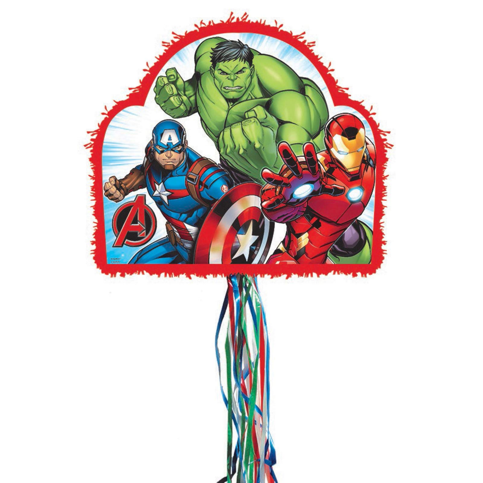 Avengers Pull-String Pinata, As Shown, One Size