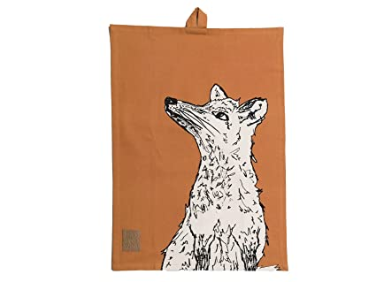 42/ x 38/ x 1/ cm Marron Creative Tops Into The Wild Stag Torchon Coton