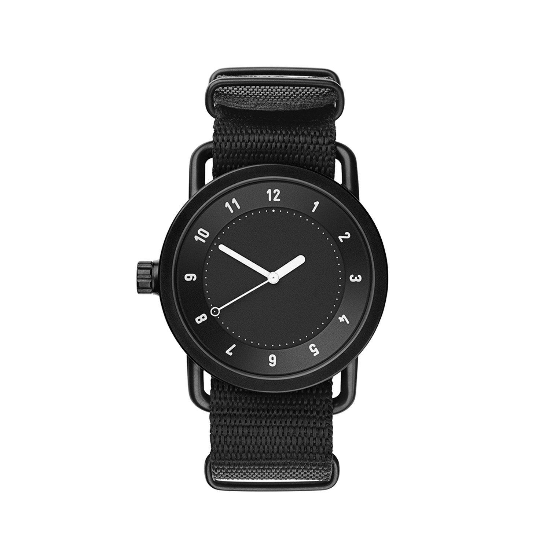 TID Watches Herren Uhr Schwarz Nano Strap Armband