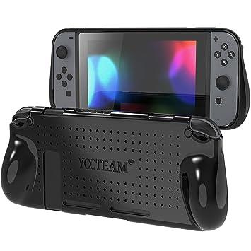Funda protectora para Nintendo Switch, Comfort Grip TPU suave cubierta con absorción de golpes y diseño antiarañazos carcasa trasera para Nintendo ...