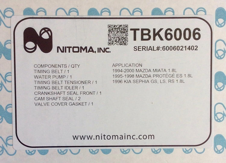 Nitoma Engine Timing Belt TBK6006
