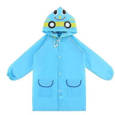 447d877cb5517 WSLCN Raincoat imperméables Unisexe Ponchon Pluie Enfant à Capuche Veste  Coupe-pluie Fille Garçon Bébé