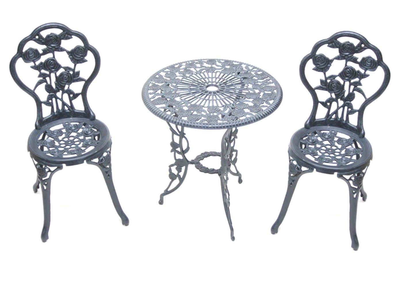 ガーデンテーブル3点セット ローズ 青銅色