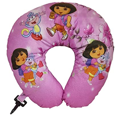 HALO NATION U Shaped Travel Pillow Neck Support Head Rest Airplane Cushion - Premium Microfiber Cushion (Dora The Explorer)