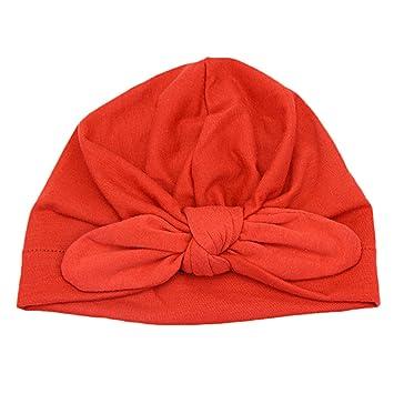 35032900f29 TININNA Bonnet Casquette Bob Calotte Chapeau Chapeaux Casquettes Capuchon  Tubulaire Spécial pour Naissance Enfants BéBés Filles Garçons Rouge   Amazon.fr  ...