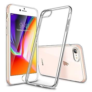 esr Funda iPhone 7 Transparente Suave TPU Ultra Fina [Mejorada Protección a cBordes] [Protección a Cámara] [Facilidad de Acceso a Botones] Encaja ...