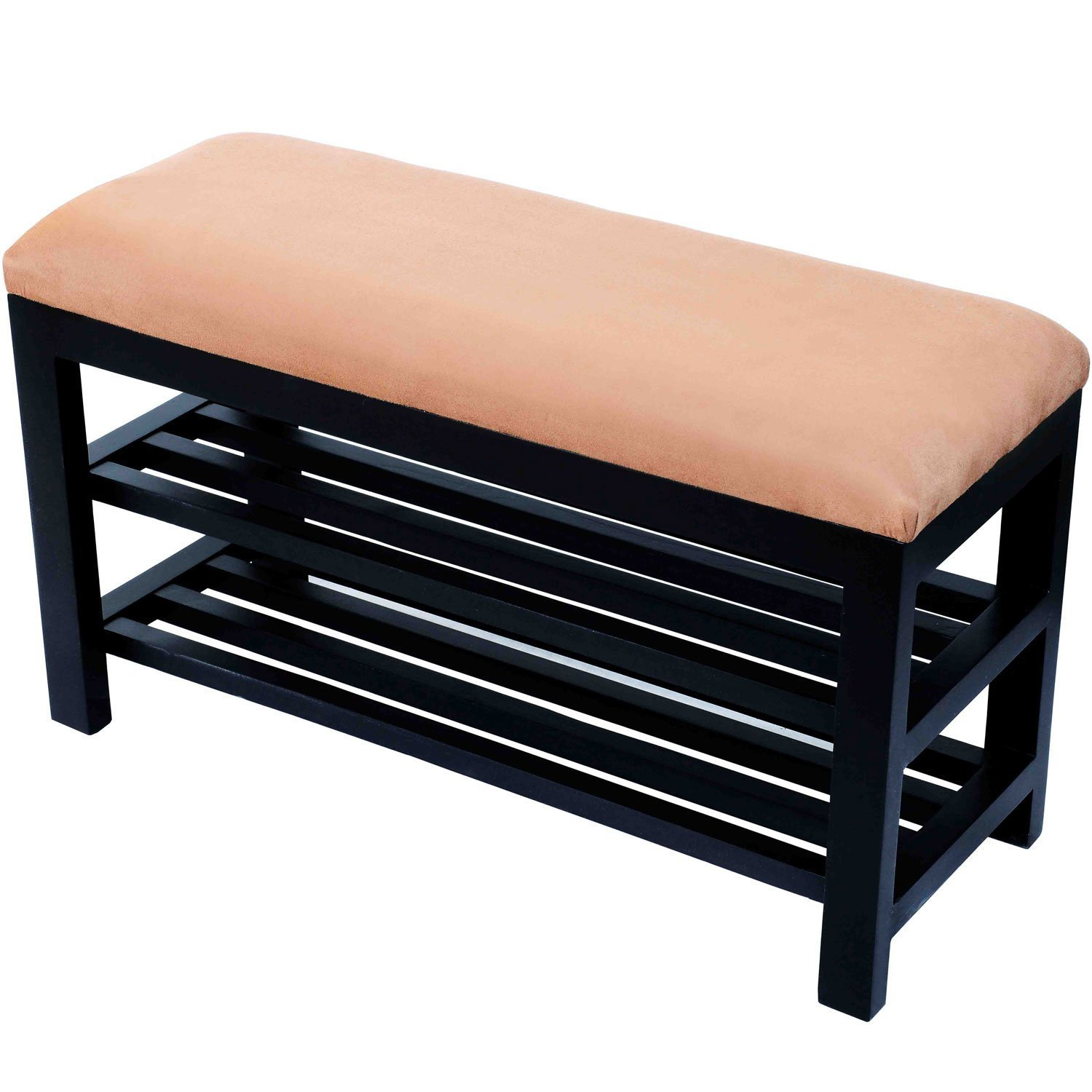 Amazon.com: HomCom Entryway Shoe Storage Organizer Bench - Brown ...