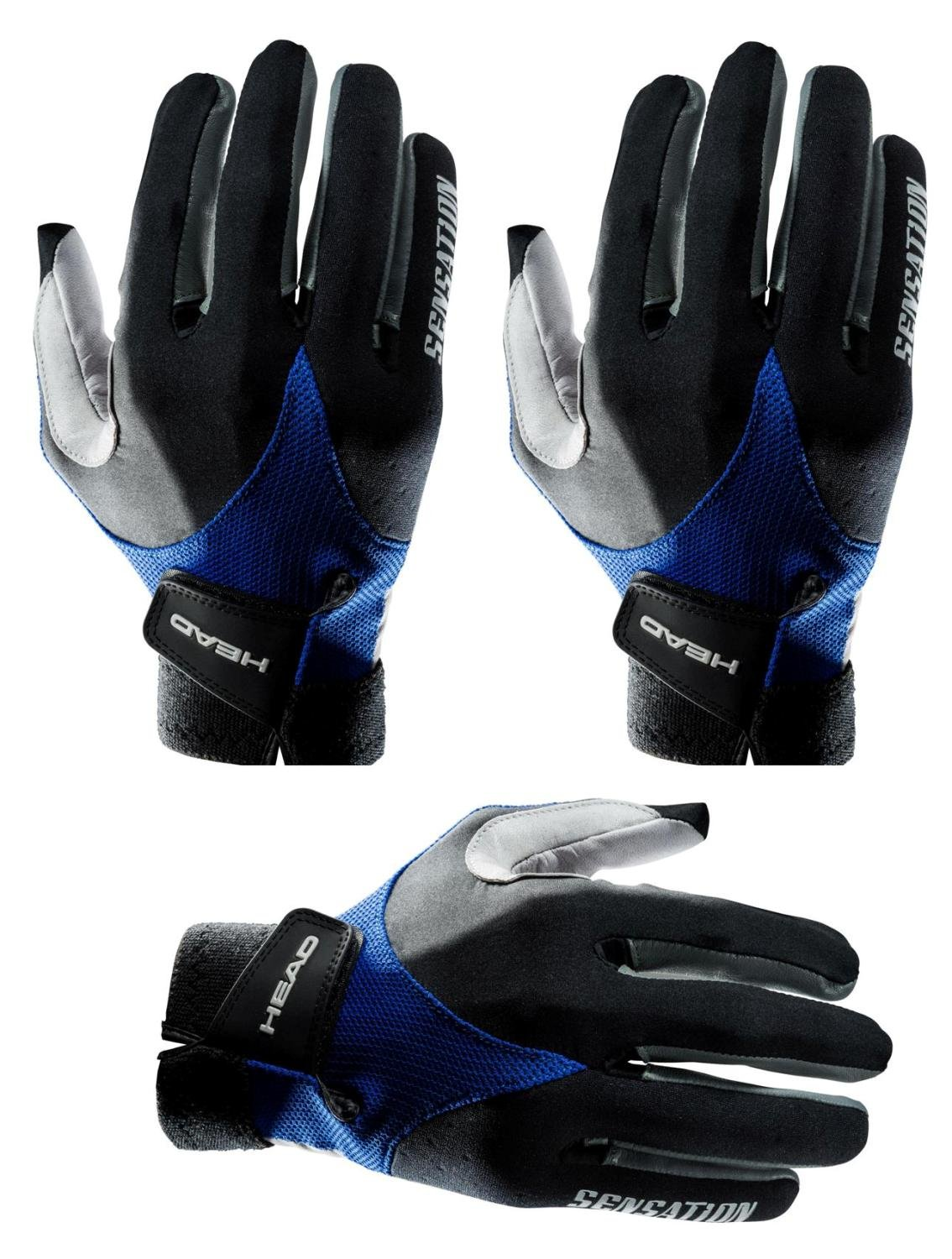 HEAD Three Sensation Racquetball Glove Right Large (Three Pack)