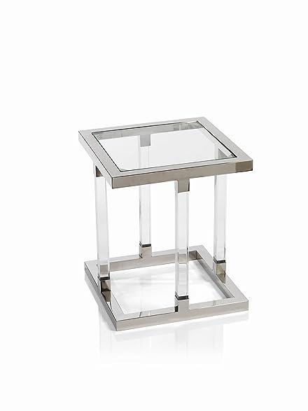 Amazoncom Amalfi Tall Stainless Steel Side Table End Table - Tall stainless steel table