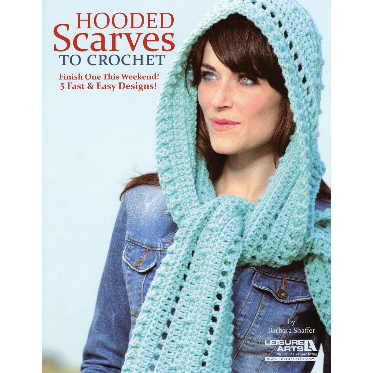 Leisure Arts-Hooded Scarves to Crochet LA-5583