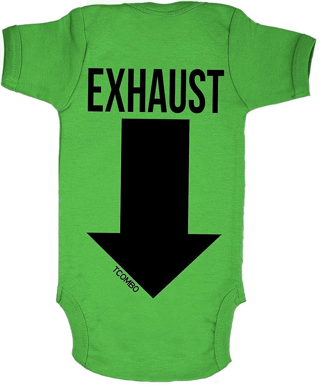 05e3acddf Amazon.com: Tcombo Intake Exhaust - Gearhead Funny Bodysuit: Clothing