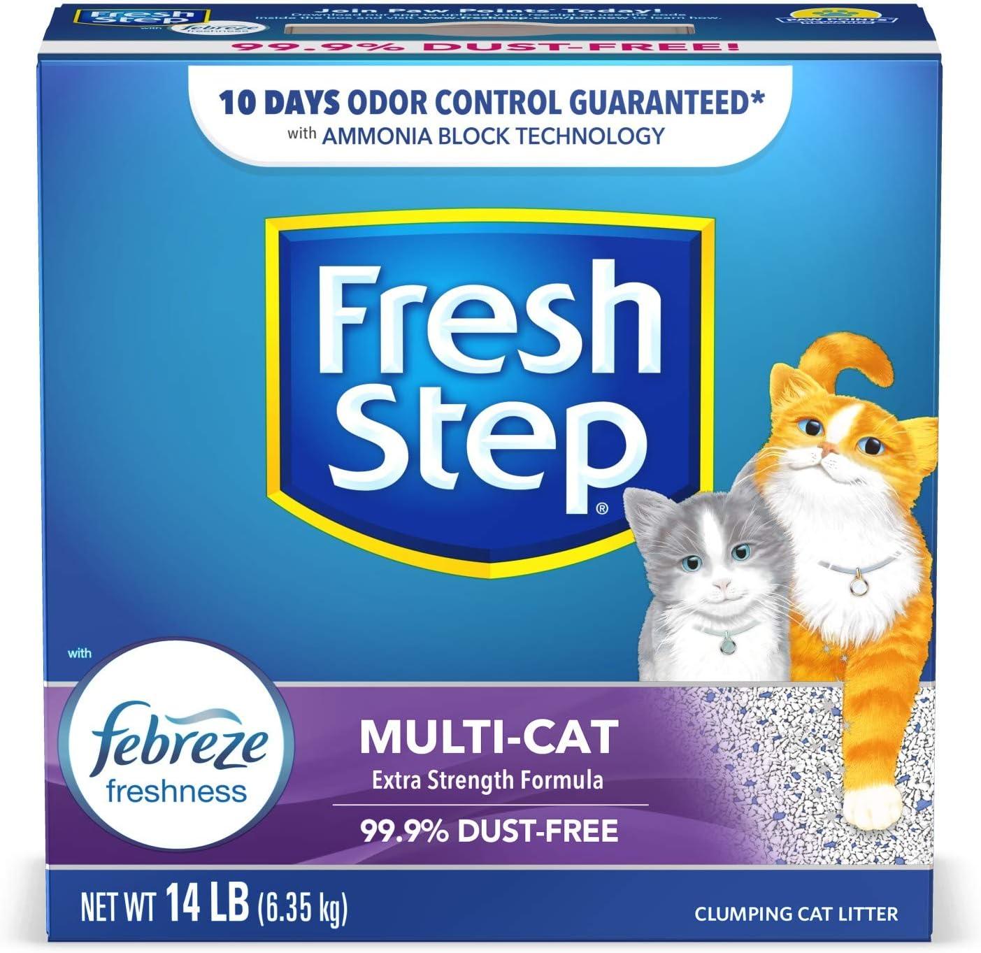 Fresh Step Multi-Cat with Febreze Freshness Clumping Cat Litter