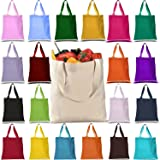 Promotional Heavy Canvas Reusable Grocery Tote Bag (PACK OF 12, MIX-ASSORTED-COLORS)