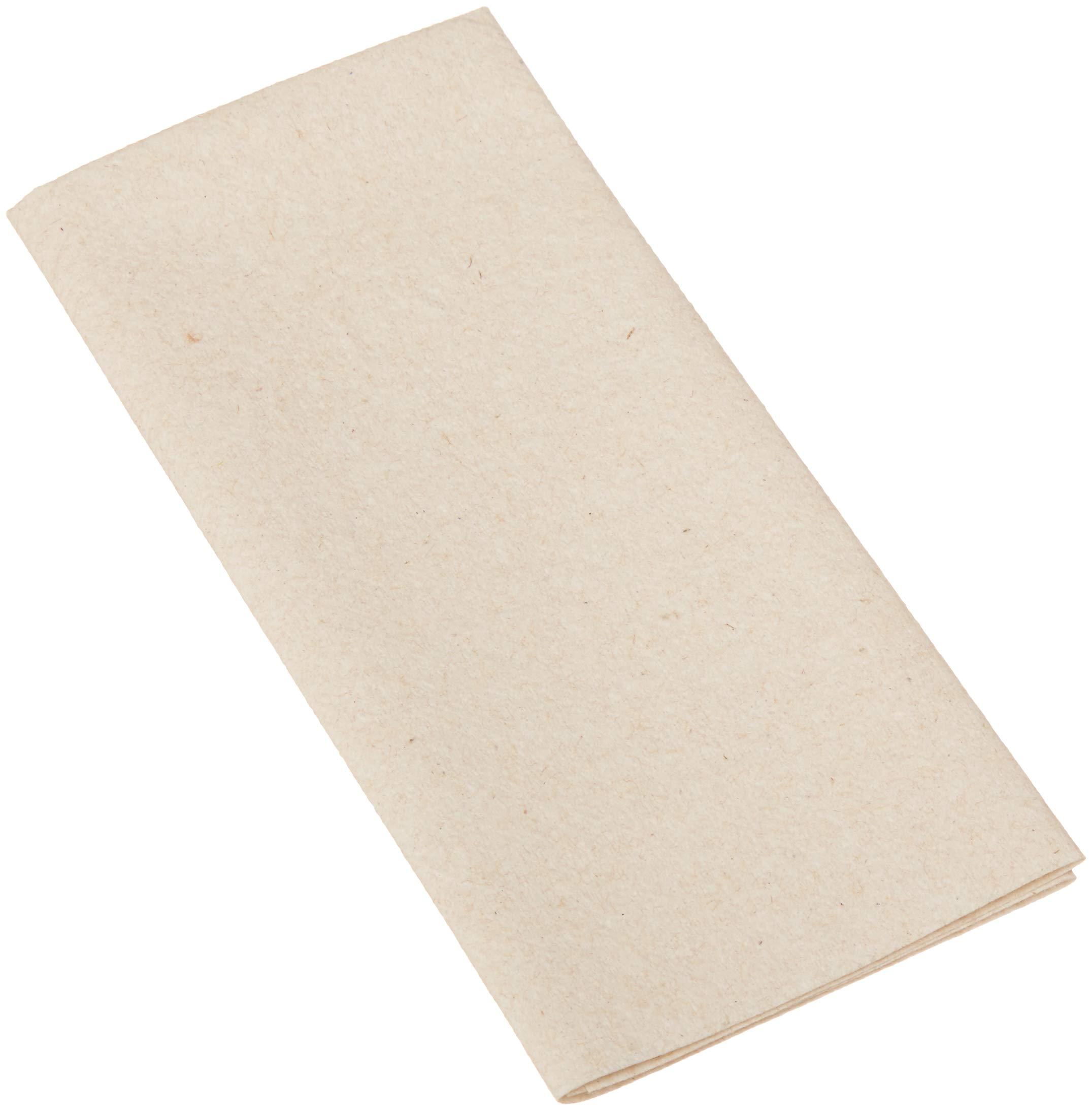 AmazonBasics Linen-Feel Napkin, Flat Pack, 14.5'' x 14.5'', Natural, 1000-Count