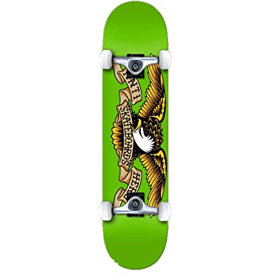 "Anti Hero Skateboard Complete Team Eagle Green 7.5"" : Sports & Outdoors"