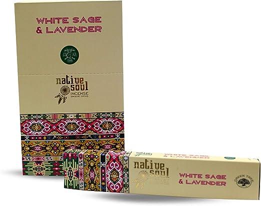 Baquetas de Incienso de Soul Nativo, Color Blanco, 1 Caja, 15 g ...