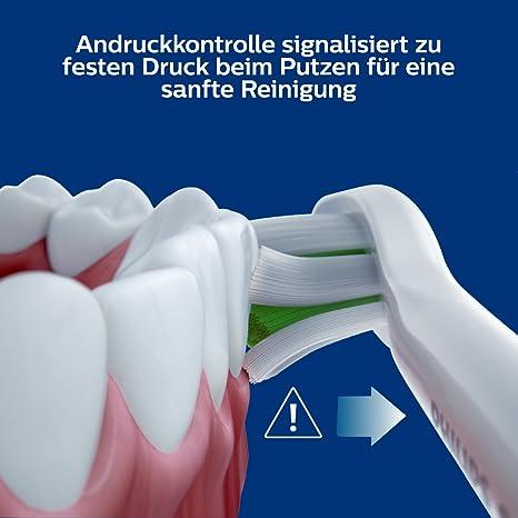 Philips Sonicare HX6877/38 ProtectiveClean 6100 - Cepillo de dientes eléctrico con tecnología de sonido, control de presión, color blanco: Amazon.es: Salud y cuidado personal