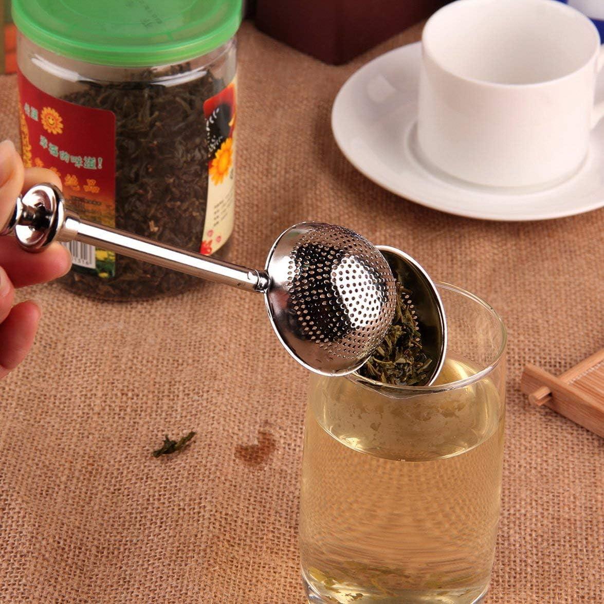 MqbY Filter PREUP Stainless Steel Tea Mesh Teaspoon Tea Infuser Reusable Strainer Loose Tea Leaf Herbal Stainless Steel Filter Tea Strainer